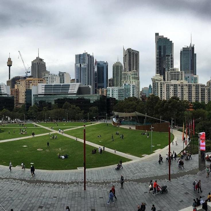 Photo taken from Darling Harbour in Sydney CBD