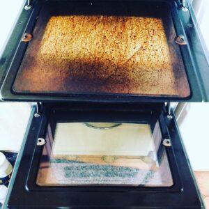 oven door cleaning